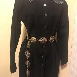 Women western dress and matching belt.